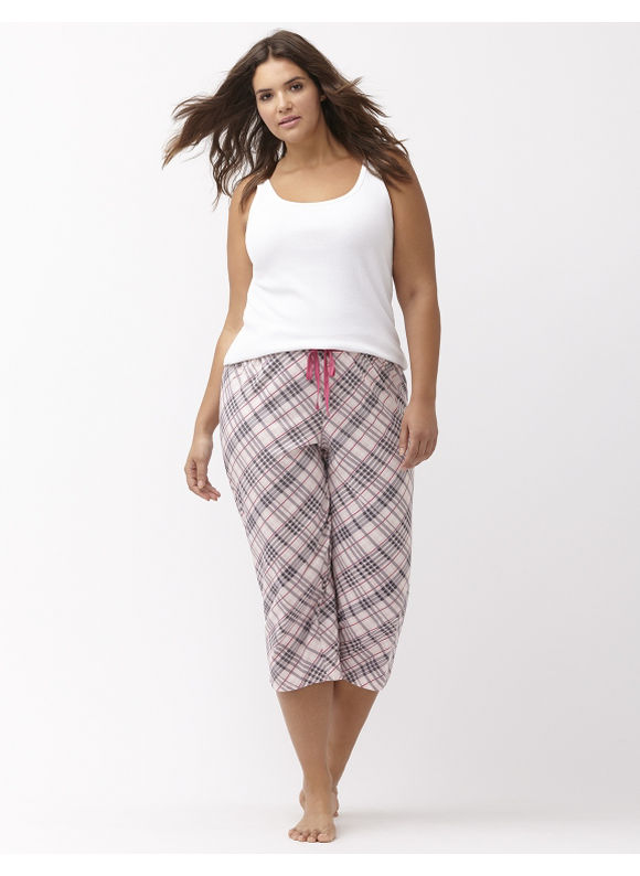 Lane Bryant Plus Size cropped sleep pant Size 14/16, Plaid - Lane Bryant ~ Trendy Plus Size Clothes
