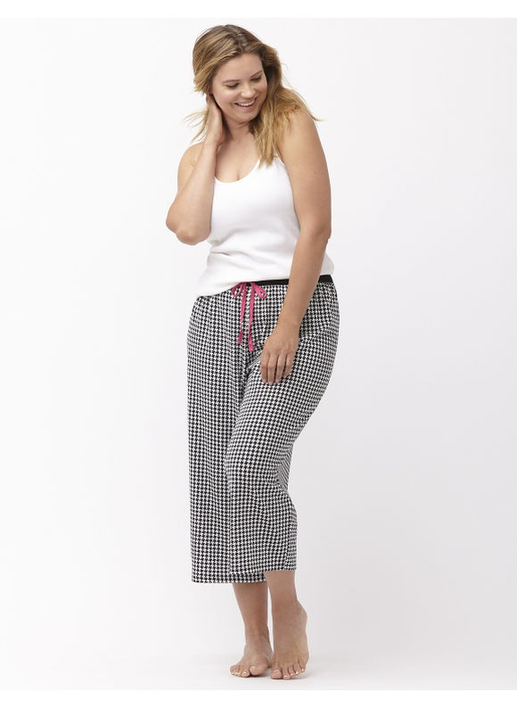 Lane Bryant Plus Size cropped sleep pant Size 14/16, houndstooth - Lane Bryant ~ Trendy Plus Size Clothes
