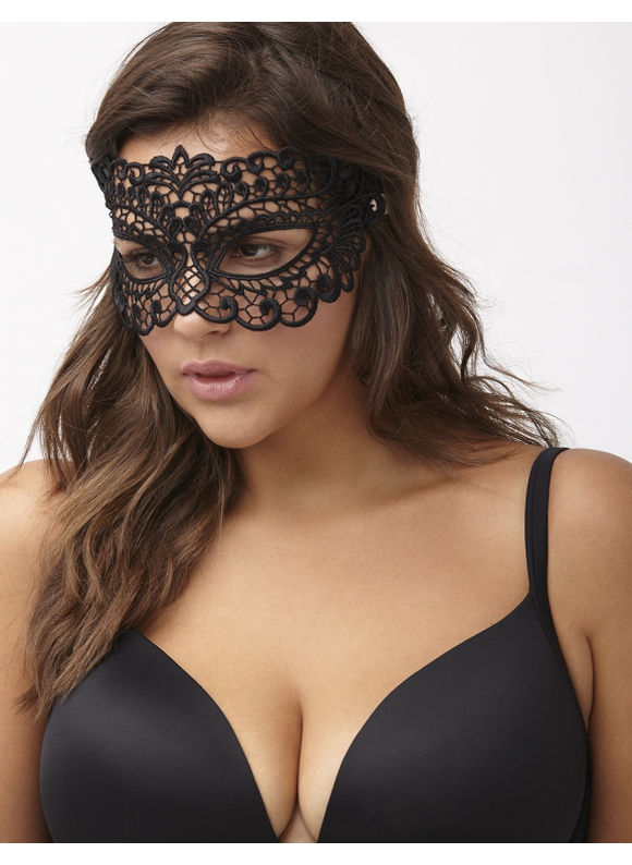 Lane Bryant Plus Size Lace eye mask Size One Size, black - Lane Bryant ~ Trendy Plus Size Clothes