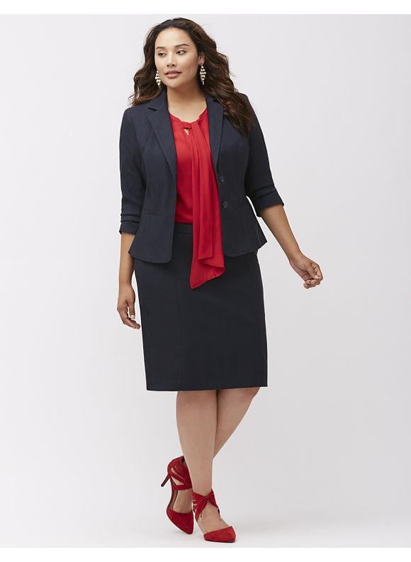 Lane Bryant Plus Size Sexy Stretch refined denim jacket Size 14, blue