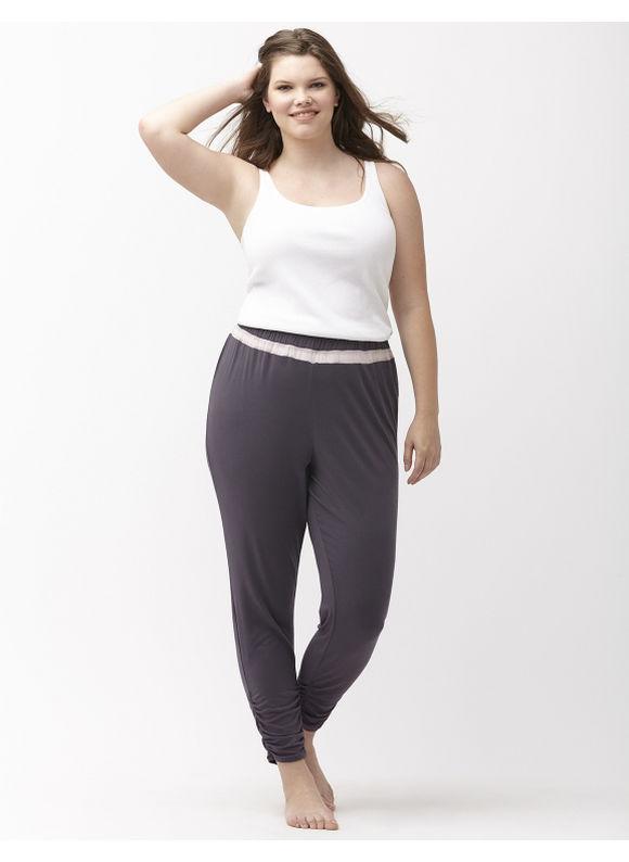 Lane Bryant Plus Size Mesh inset sleep pant Size 14/16,18/20,22/24,26/28, grey