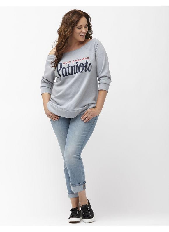 Lane Bryant Plus Size New England Patriots sweatshirt Size 18/20, gray