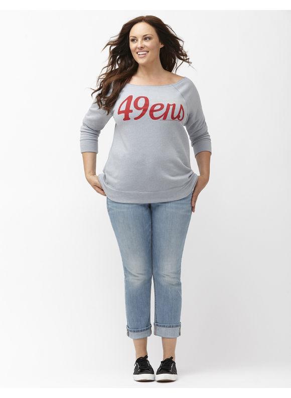 Lane Bryant Plus Size San Francisco 49ers sweatshirt Size 18/20, gray