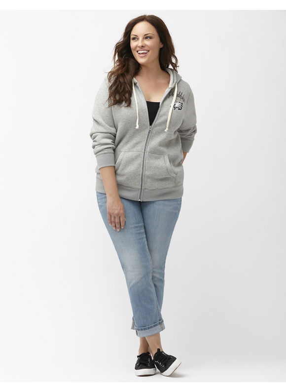 Lane Bryant Plus Size Philadelphia Eagles zip front hoodie Size 22/24, gray