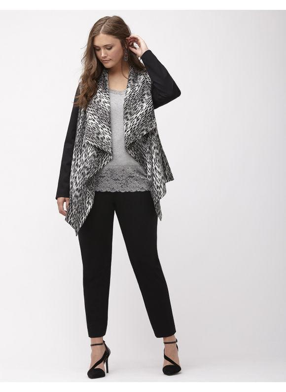 Lane Bryant Plus Size Animal print draped jacket Size 14/16, black - Lane Bryant ~ Trendy Plus Size Clothes