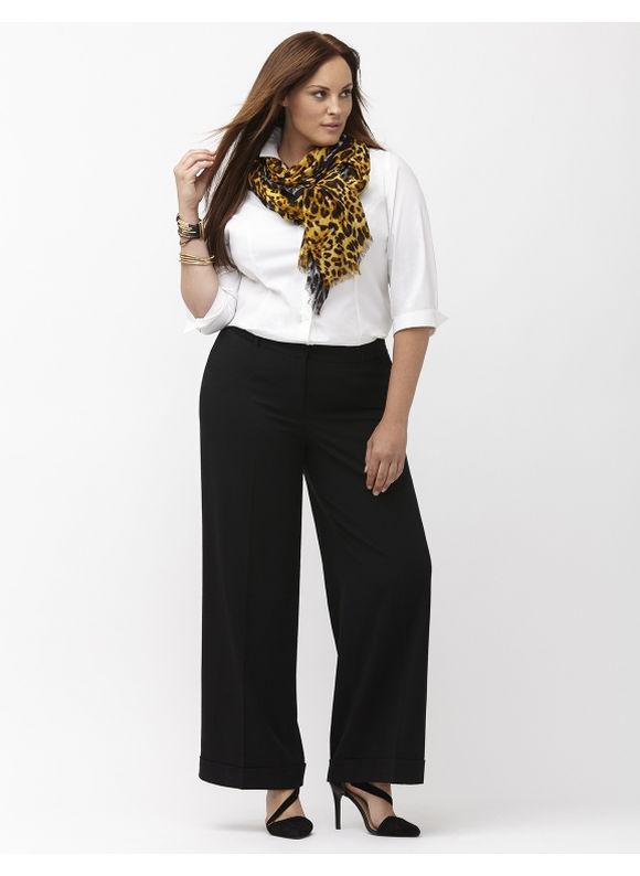 Lane Bryant Plus Size Lena Tailored Stretch wide leg pant,  Women' Size: 14,  Black plus size,  plus size fashion plus size appare