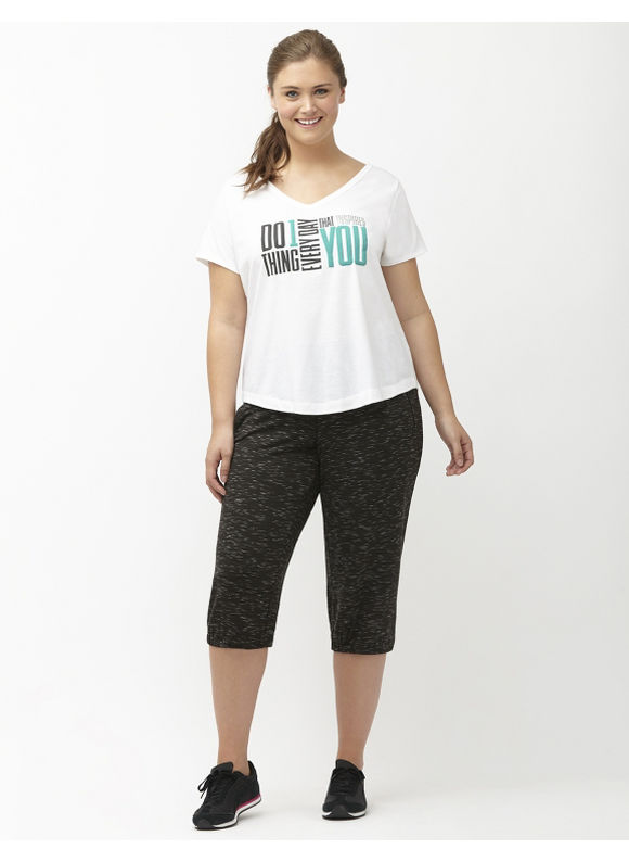 Lane Bryant Plus Size Do One Thing graphic tee Size 26/28, Sporty Turquoise