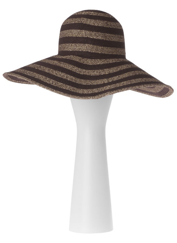 Lane Bryant Metallic stripe floppy hat - /Gold tone - Size One Size