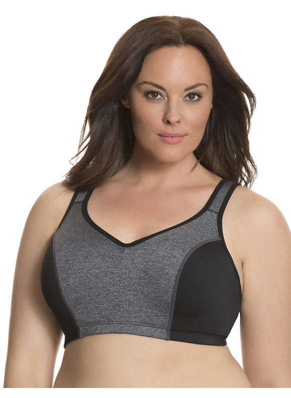 Molded underwire sport bra Plus Size/White,  Black by Lane Bryant plus size,  plus size fashion plus size appare