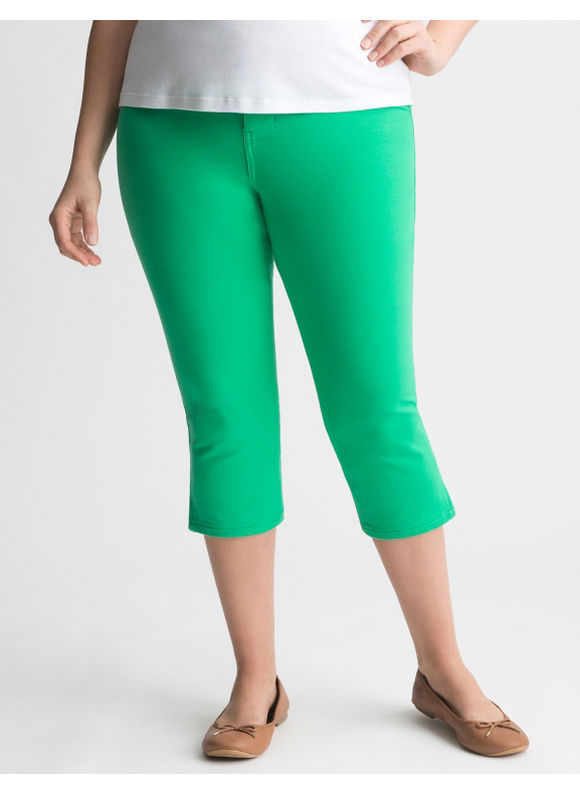 Lane Bryant Plus Size Colored skinny capri - Blarney