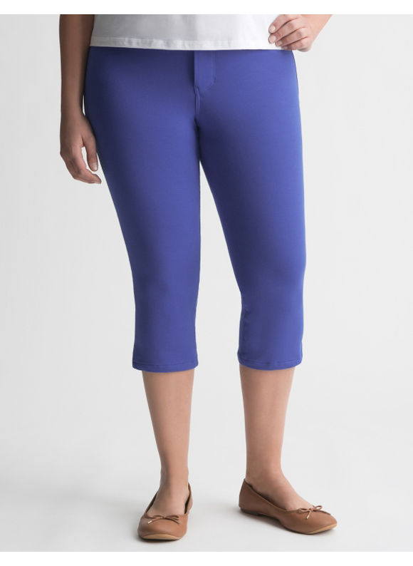 Lane Bryant Plus Size Colored skinny capri - Dazzling blue