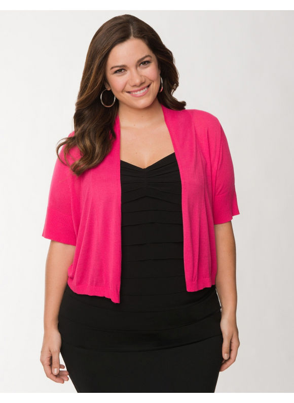 Lane Bryant Plus Size Short sleeve shrug - Cabaret