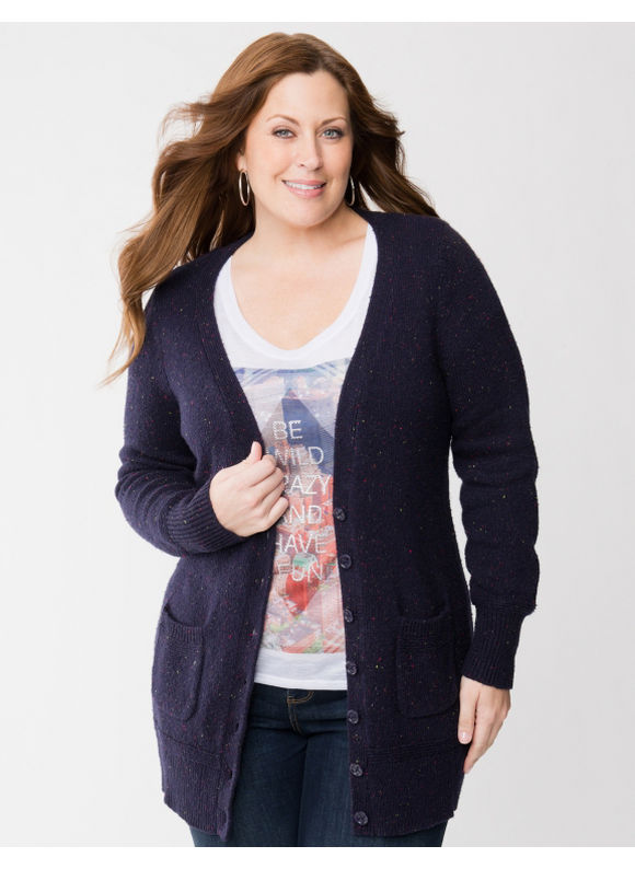Lane Bryant Plus Size Tweed sweater coat