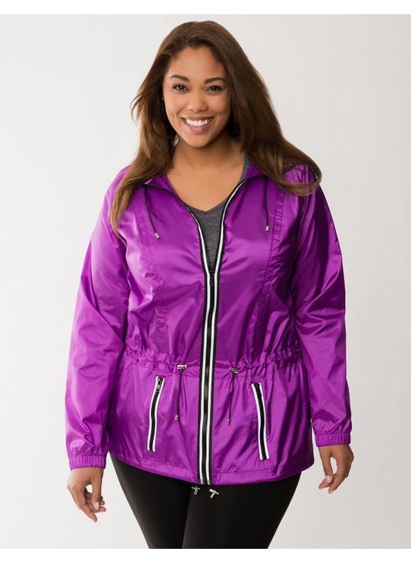 Lane Bryant Plus Size LB Active anorak jacket -  Purple