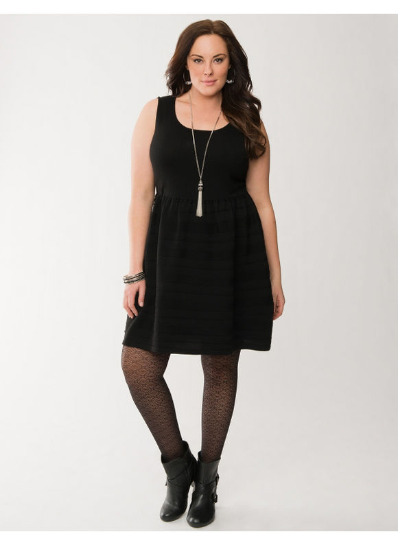 Lane Bryant Plus Size Sweater skater dress - Black