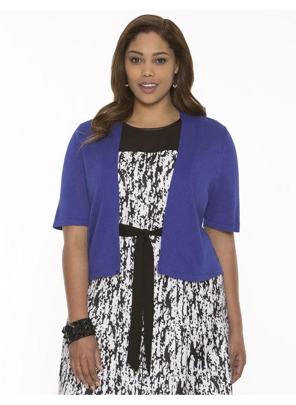Lane Bryant Plus Size Linen shrug, blue