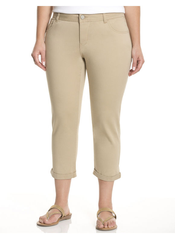 Lane Bryant Plus Size Genius Fit skinny capri - Sandy Beach