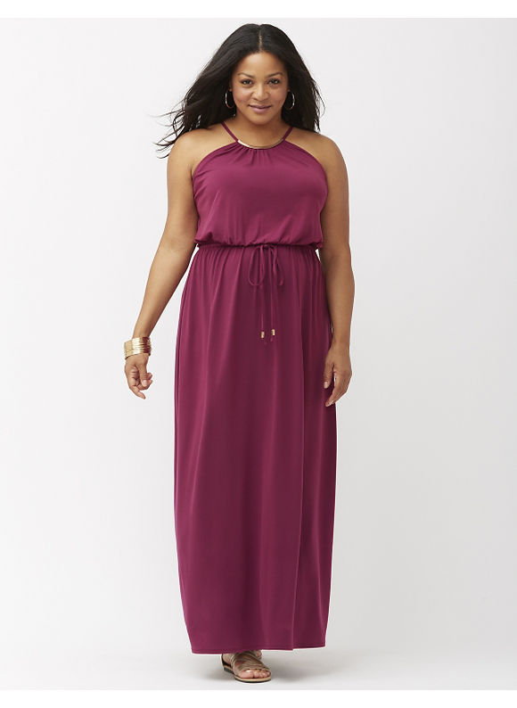 Plus Size Hardware maxi dress Lane Bryant Women's Size 14/16, purple/black