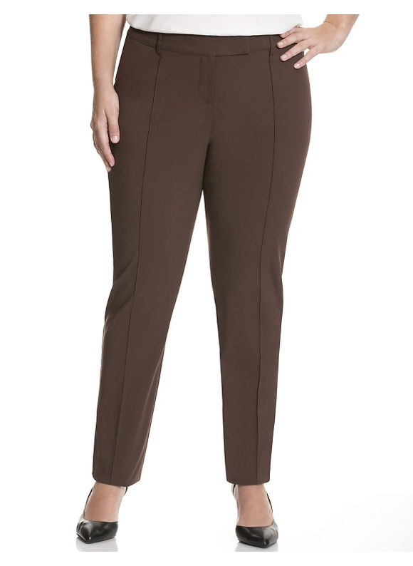 Lane Bryant Plus Size Lena Sexy Stretch slim pant with Tighter Tummy Technology Size 14, brown