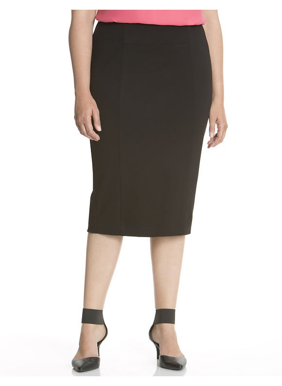 Lane Bryant Plus Size 6th & Lane seamed pencil skirt - Black