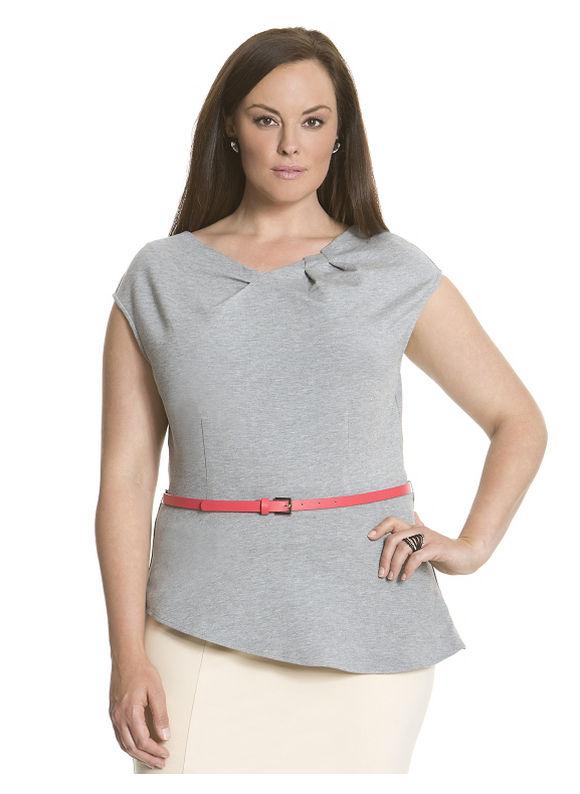Lane Bryant Plus Size 6th & Lane ponte peplum top Size 20, black - Lane Bryant ~ Trendy Plus Size Clothes