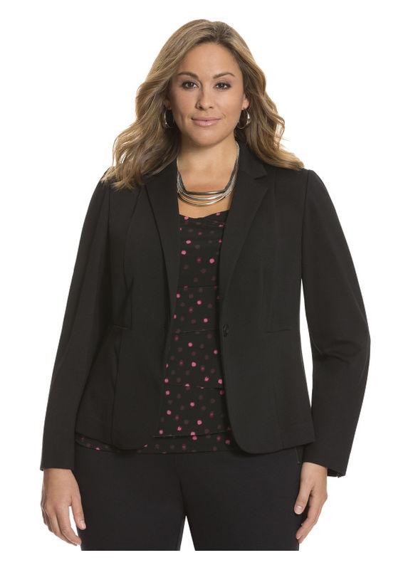 Lane Bryant Plus Size Ponte fitted jacket Size 14, black