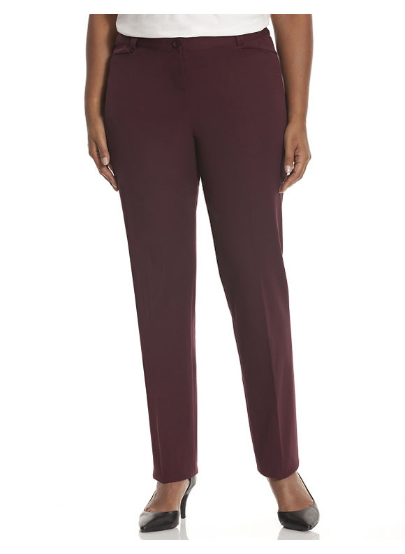 Lane Bryant Plus Size Lena cotton Smart Stretch straight leg pant Size 14,16,18, black