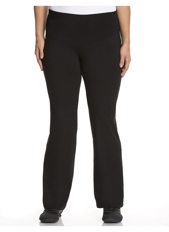 Lane Bryant Plus Size Control Tech smoothing yoga pant, Women's, Size: 26/28, Black