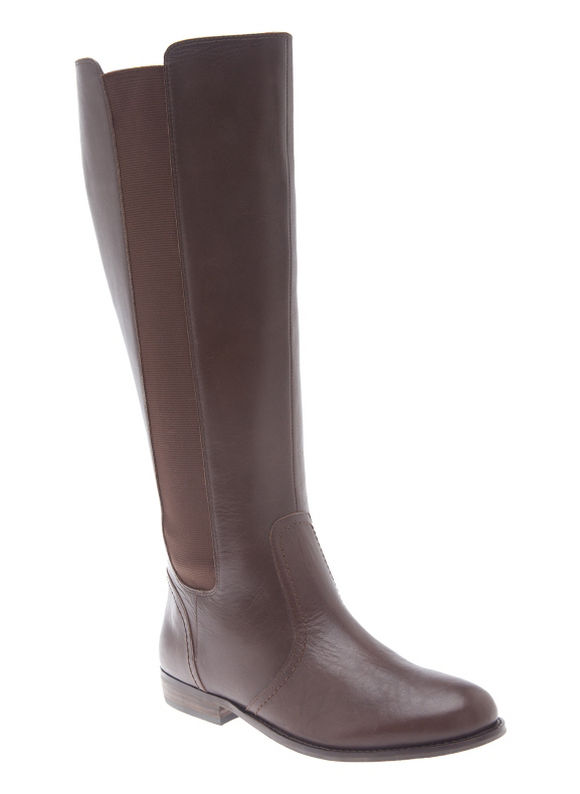 Lane Bryant Wide Calf Alexandra leather riding boot Size 10 W, brown