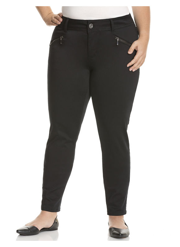 Lane Bryant Plus Size Zip pocket sateen skinny pant Size 14, black - Lane Bryant ~ Trendy Plus Size Clothes
