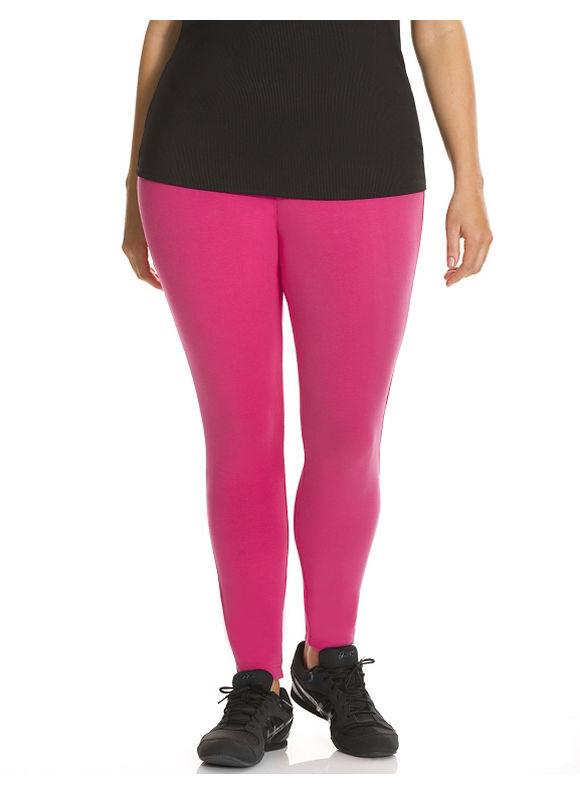 Lane Bryant Plus Size Signature Stretch active legging, pink