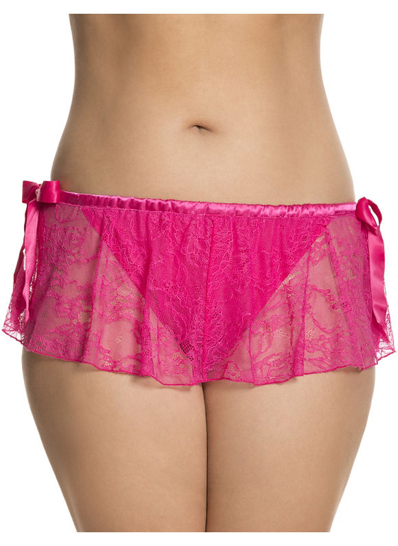 Cacique Plus Size Skirted panty with Split Gusset,  Women' Size: 14/16,  Pink plus size,  plus size fashion plus size appare