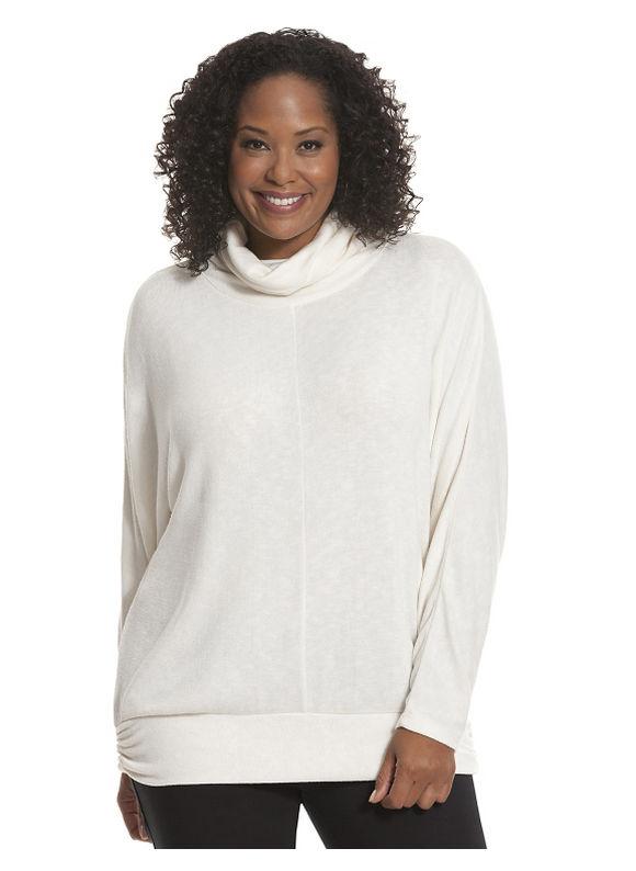 Lane Bryant Plus Size Turtleneck tunic Size 14/16, white