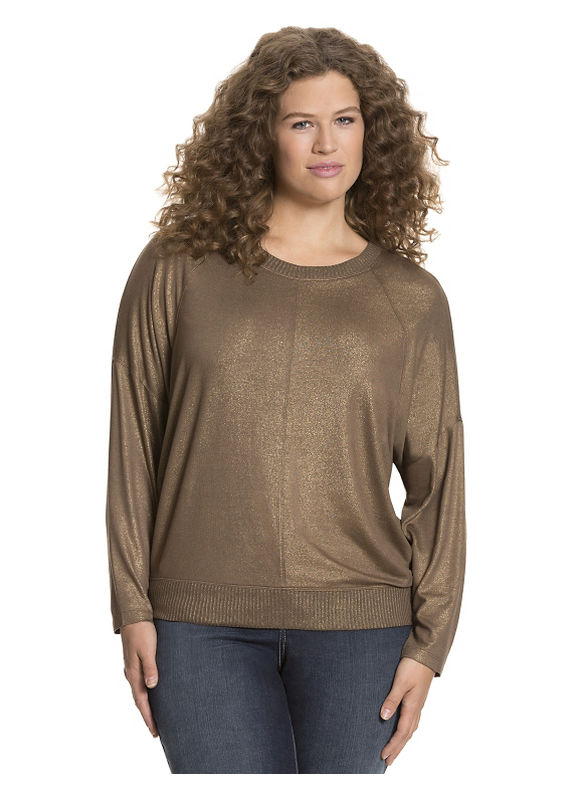 Lane Bryant Plus Size Long sleeve tee with ribbed trim Size 26/28, red