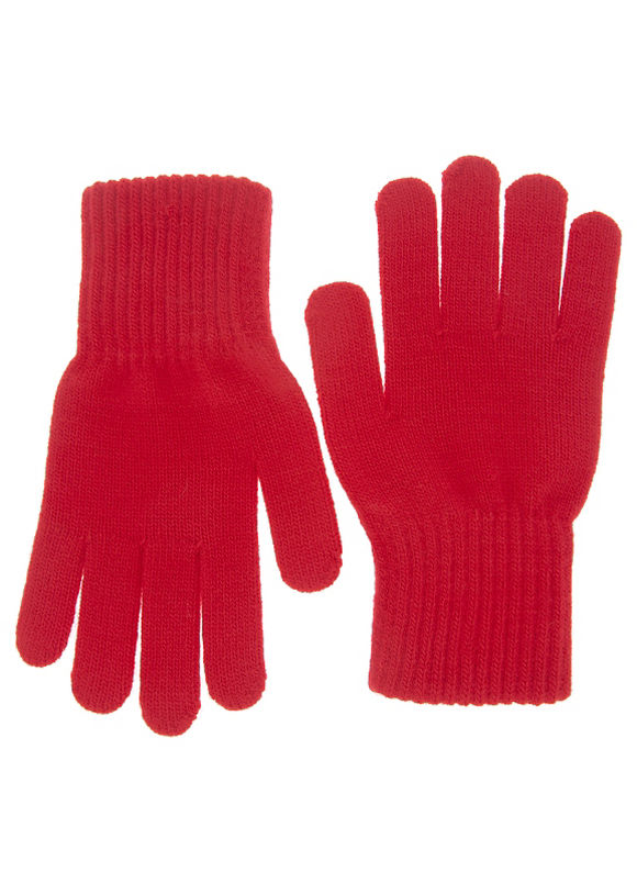 Lane Bryant Plus Size Knit gloves Size One Size, black, venetian red - Lane Bryant ~ Trendy Plus Size Clothes
