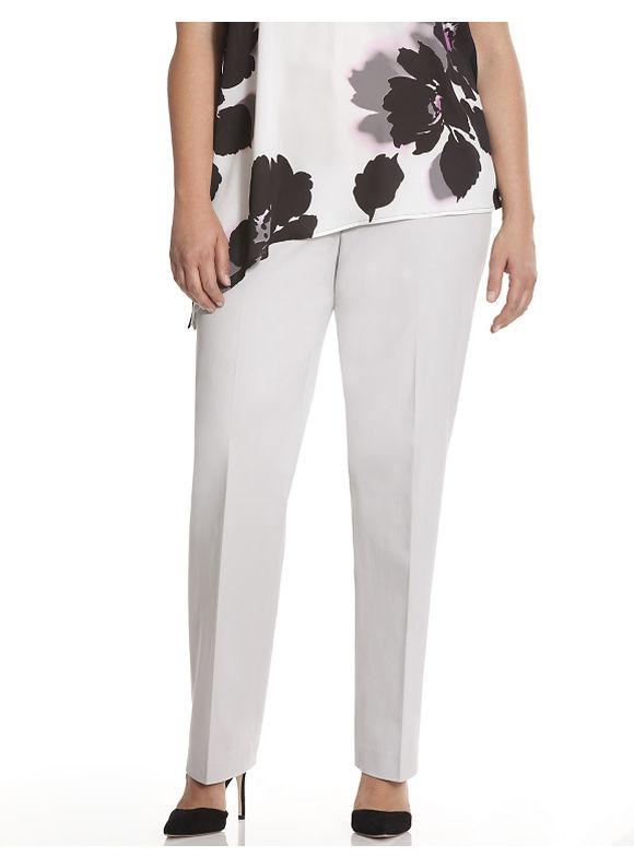 Lane Bryant Plus Size Lena Smart Stretch straight leg pant Size 18, gray