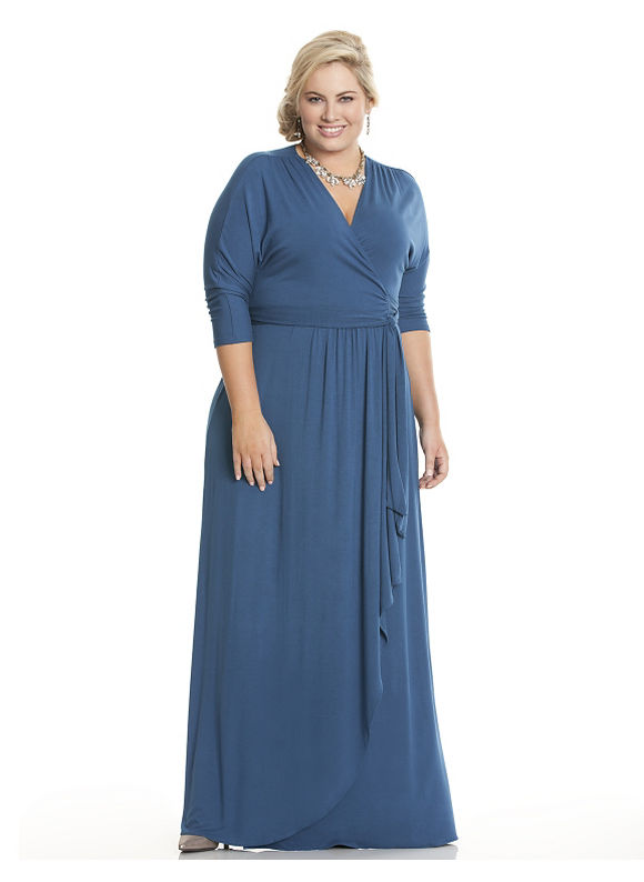 Plus Size Wrapped in Romance dress by Kiyonna Lane Bryant Women's Size 0X, turkish tile