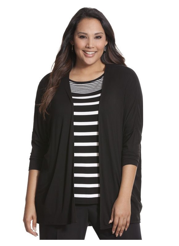Lane Bryant Plus Size Knit overpiece Size 26/28, black