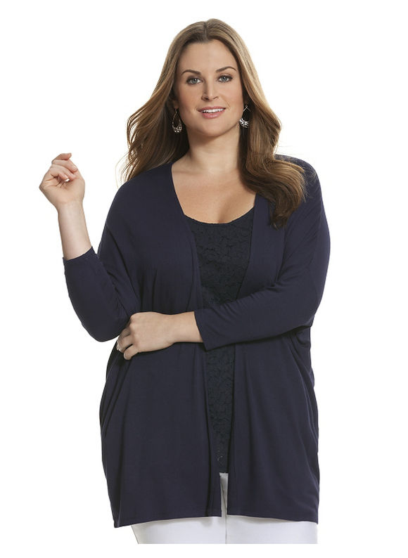Lane Bryant Plus Size Knit overpiece Size 14/16, blue - Lane Bryant ~ Trendy Plus Size Clothes