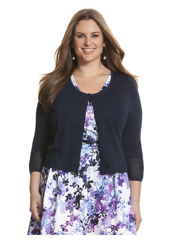 Lane Bryant Plus Size Illusion cardigan Size 18/20, blue