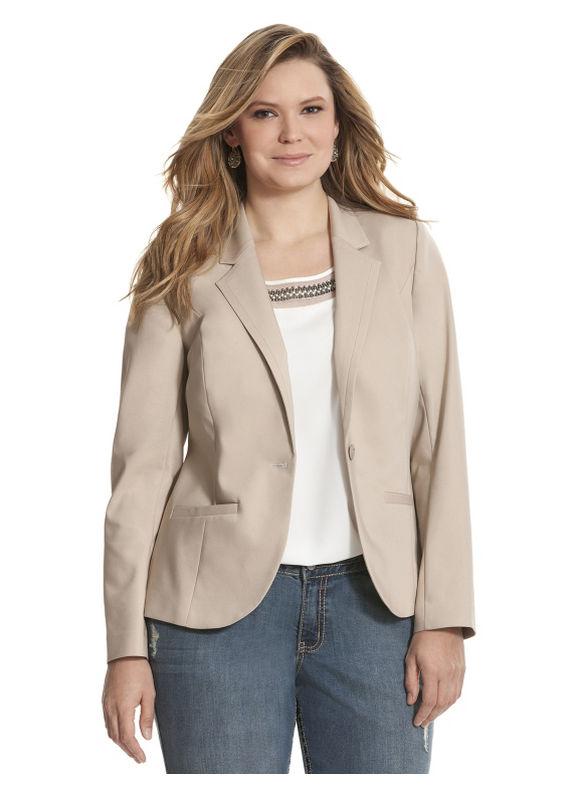 Lane Bryant Plus Size Double weave suit jacket Size 24, Jute