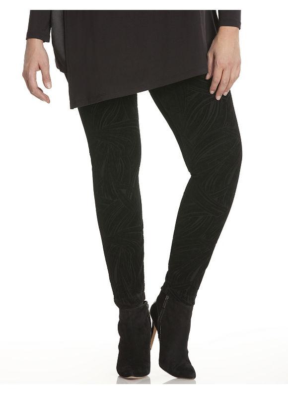 Lane Bryant Plus Size Flocked velvet legging by Lysse Size 2X, black