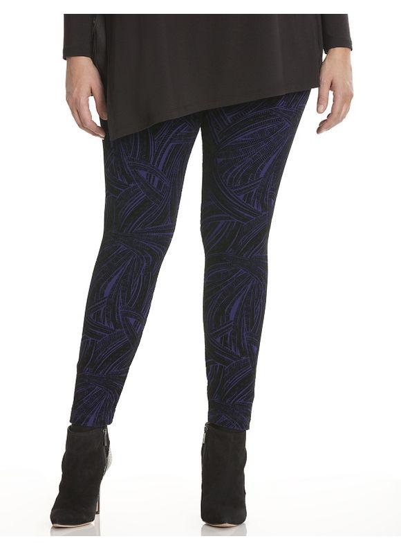 Lane Bryant Plus Size Flocked velvet legging by Lysse Size XL, white