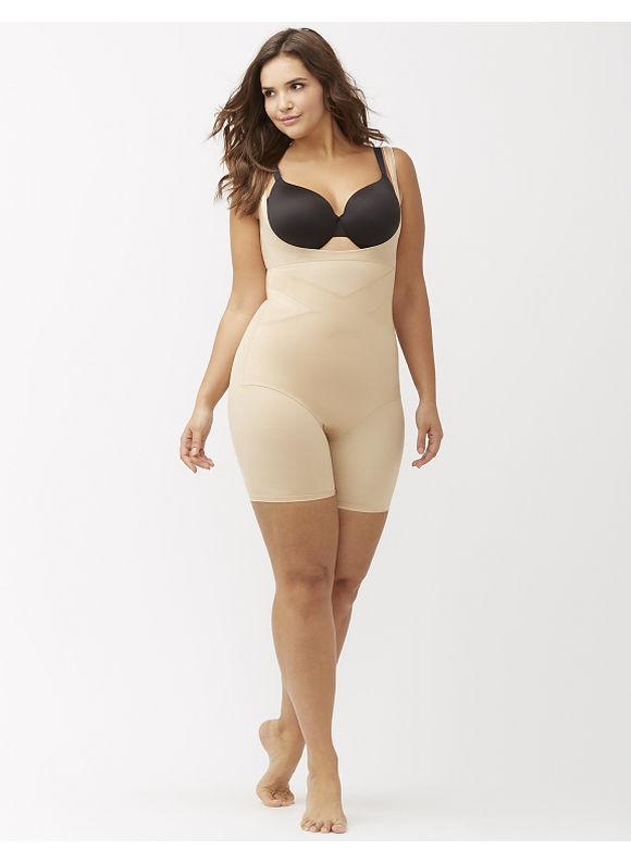 Lane Bryant Plus Size Illusion open bust bodysuit Size 14/16, tan - Lane Bryant ~ Trendy Plus Size Clothes