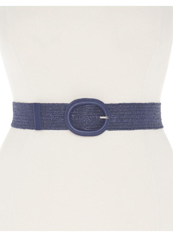 Lane Bryant Plus Size Patterned straw stretch belt Size 14/16, blue - Lane Bryant ~ Trendy Plus Size Clothes