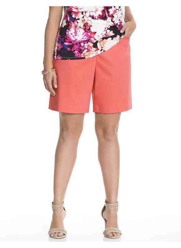 Lane Bryant Plus Size Double weave suit short Size 28, Coral