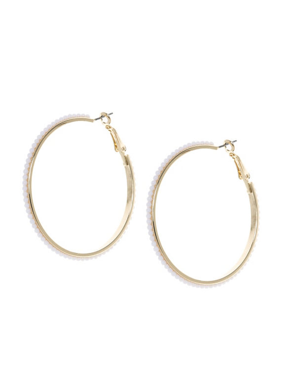 Lane Bryant Women's Beaded hoop earrings - Lane Bryant ~ Trendy Plus Size Clothes