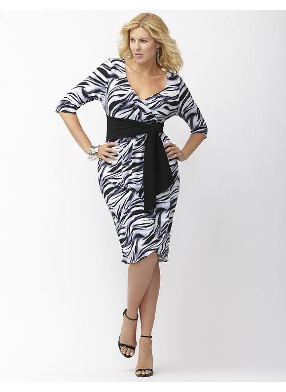 Plus Size Harlow faux wrap dress by Kiyonna Lane Bryant Women's Size 2X,3X,4X, black - Lane Bryant ~ Trendy Plus Size Clothes