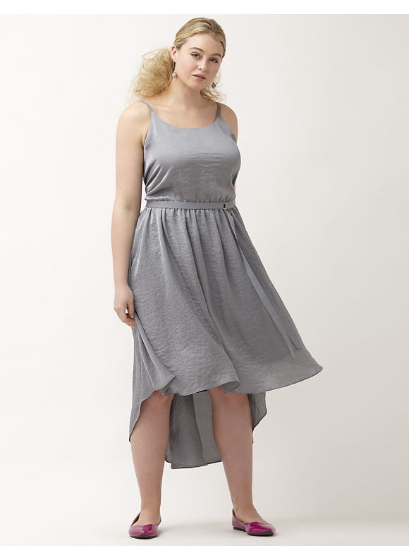Plus Size 6th & Lane slip dress Lane Bryant Women's Size 14, gray