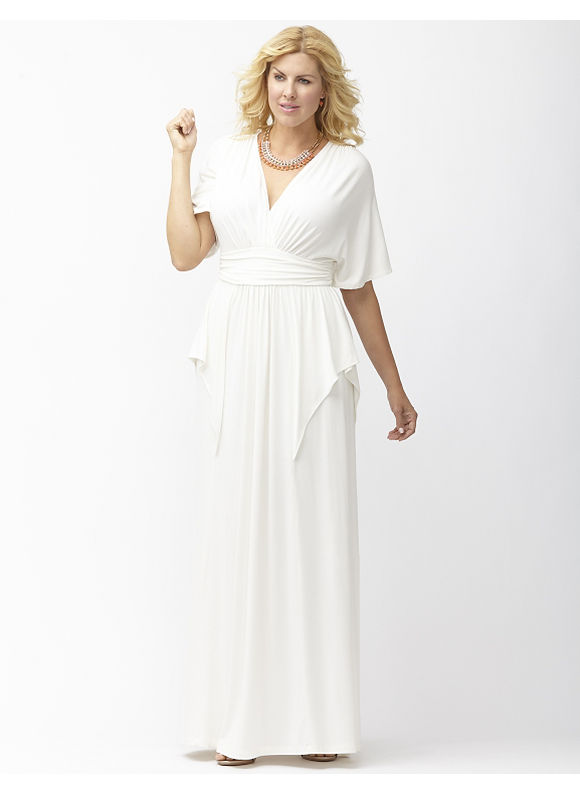 Plus Size Indie Flare maxi dress by Kiyonna Lane Bryant Women's Size 3X, white - Lane Bryant ~ Trendy Plus Size Clothes